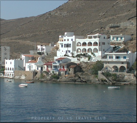 Kythnos island, partial view of the port.